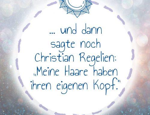 Und dann sagte noch Christian Regelien:
