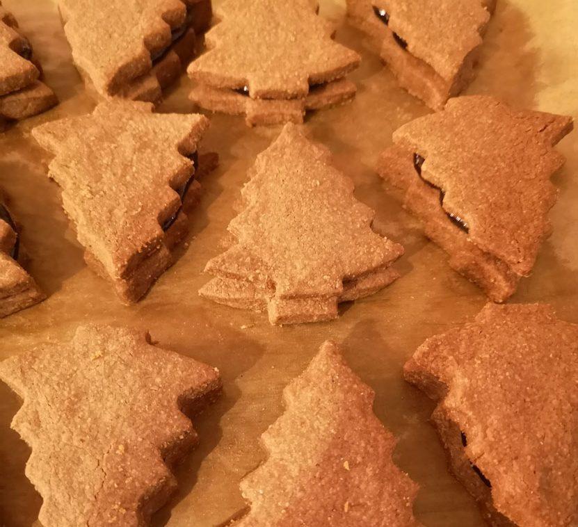 Linzer Plätzchen gebacken