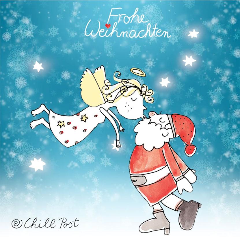 chillpost-movie Weihnachtsmann küsst engel