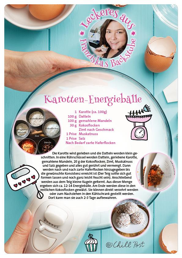 Leckeres aus Franziskas Backstube Rezept für Karotten Energiebaelle
