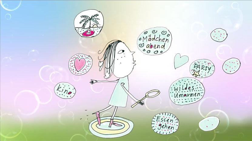 lass deine Wünsche fliegen mit Seifenblasen